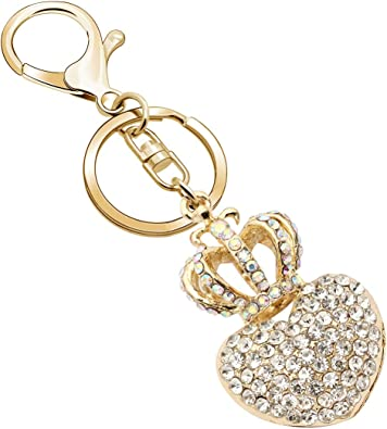 Swan Charm Pendant Crystal Purse Bag Key Chain Accessories Lover Girl Gift