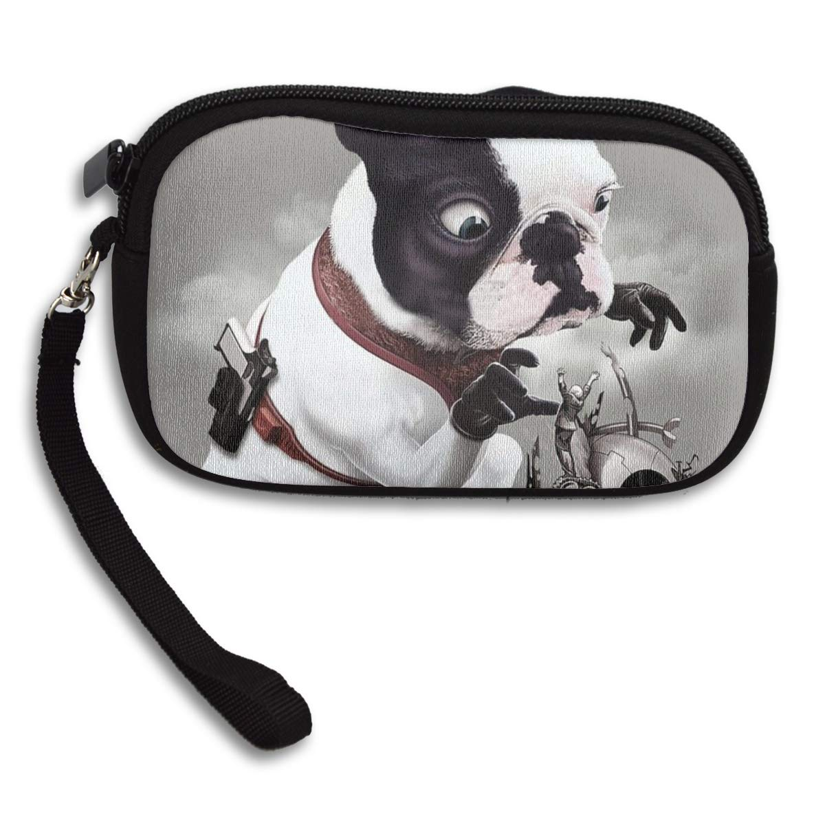French Bulldog Mission Went Wrong Funny Coin Pouch Clutch Purse Wristlet Wallet Phone Card Holder Handbag