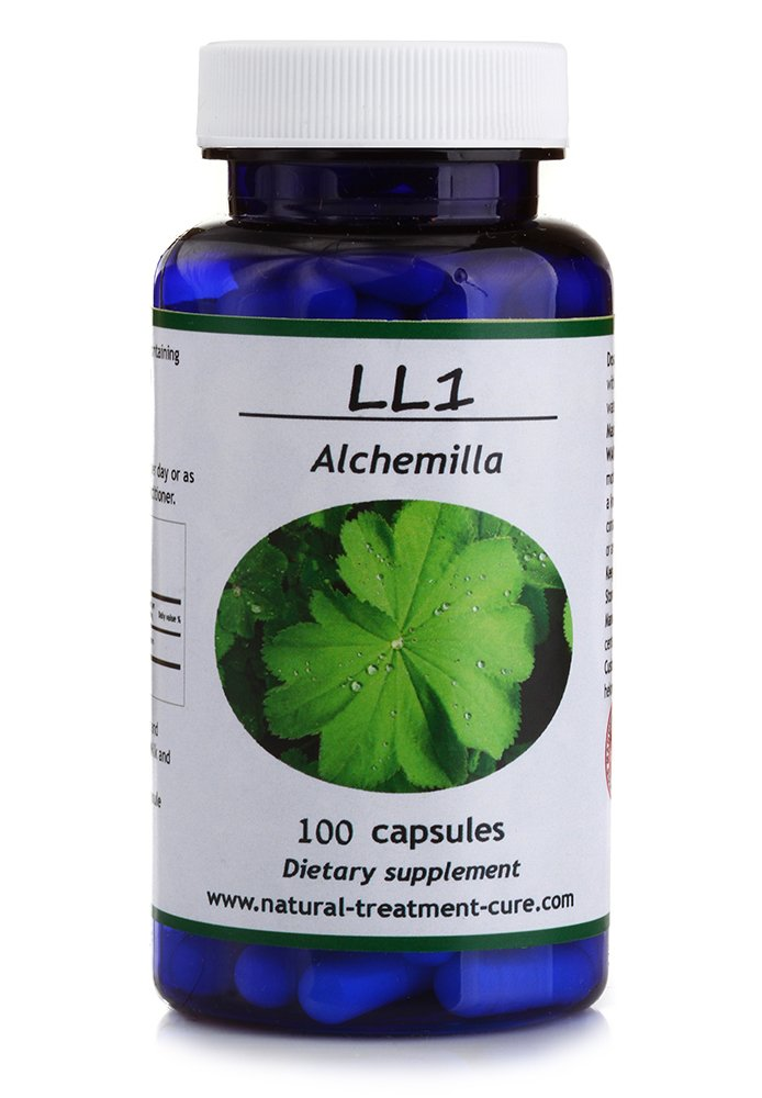Hekma Center Pure Alchemilla Vulgaris - Lady's Mantle - 100 Capsules for Stomach Skin and Muscles - Vegan