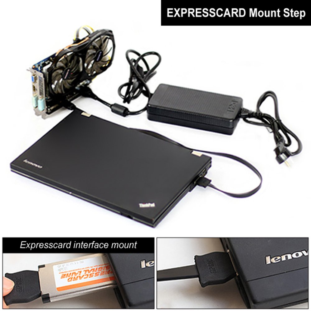 XCSOURCE EXP GDC Laptop External Independent Video Card PCI-E Graphics Card for Beast Dock Expresscard AC773 by XCSOURCE (Image #2)