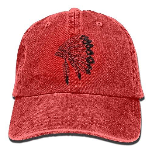 Native American Indian Headdress Unisex Baseball Caps Adjustable Plain Dad Hat Sun Cap -