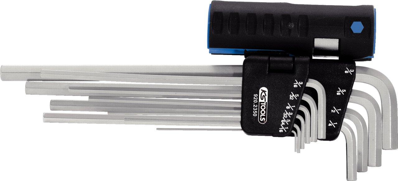 KS Tools 920.2350 3 in 1 Innen6kant-Winkelschlü ssel-Satz, 10-tlg. XL, Zoll KS-Tools Werkzeuge-Maschine 4042146355206