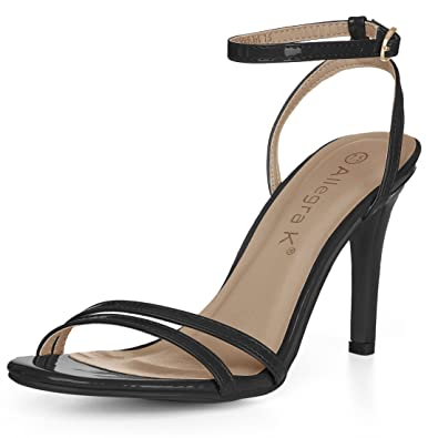 cdecdbe530e5c Allegra K Women's Open Toe Stiletto Heel Ankle Strap Dress Sandals