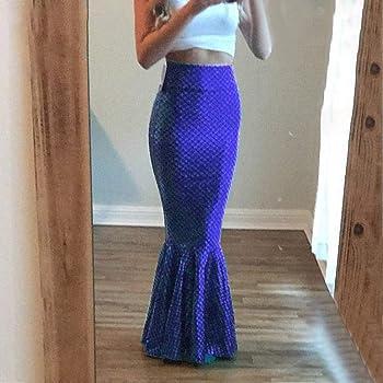 NPRADLA Large Falda Partido Faldas largas Atractivas de la Sirena ...