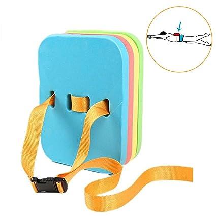 Foryofun Flotador de espalda de natación para niños, colorido, 4 capas, FOUK-