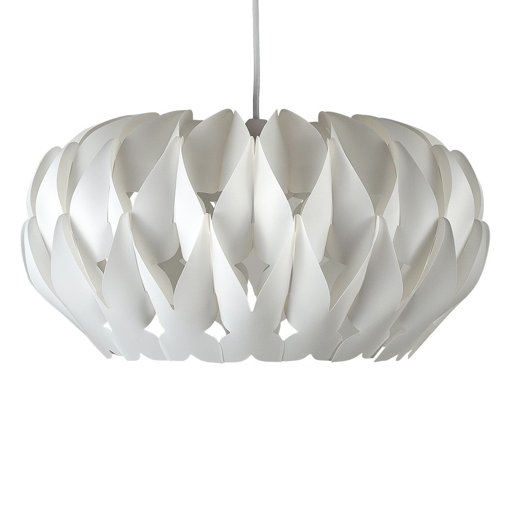 Modern Matt White Pleated Origami Style Ceiling Pendant Light Shade
