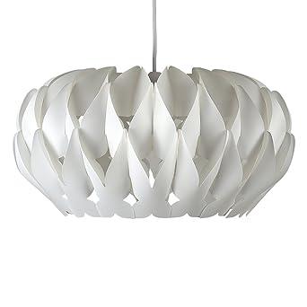 Modern Matt White Pleated Origami Style Ceiling Pendant Light Shade