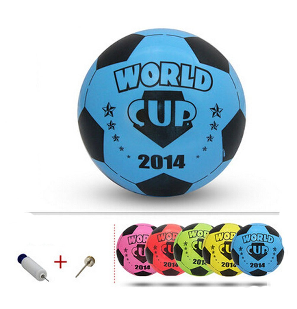 Inflatable Soccer Balls Pool Party Favor Soccer Ball for Kids Blue,8.3''