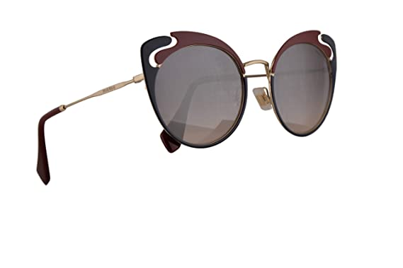 c4e88e7833b5 Image Unavailable. Image not available for. Color  Miu Miu MU57TS Sunglasses  Pale Gold Garnet Blue w Pink Gradient Violet Mirror Silver 54mm