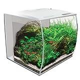 Fluval Flex Curved Glass LED Nano Aquarium Fish Tank 57L - White