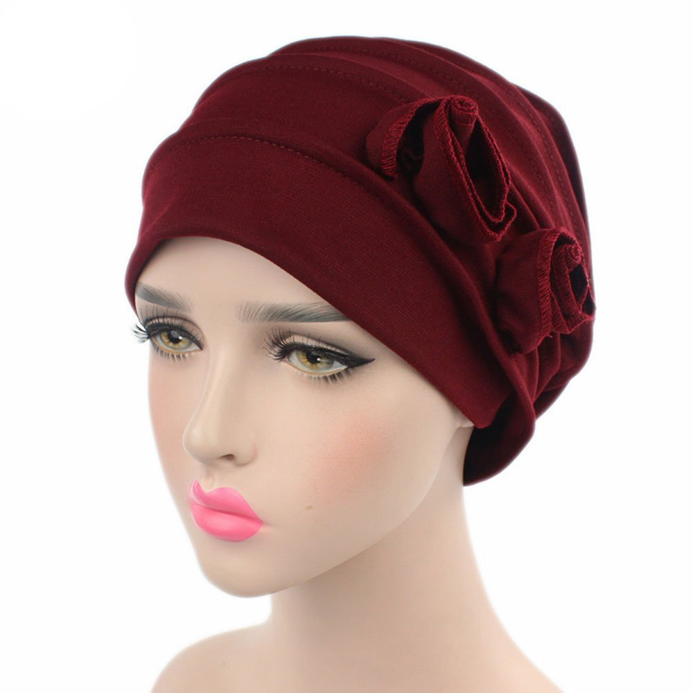 Ever Fairy Chemo Cancer Head Scarf Hat Cap Ethnic Cloth Print Turban Headwear Women Stretch Flower Muslim Headscarf (3 Colors Back-a): Amazon.es: Ropa y ...