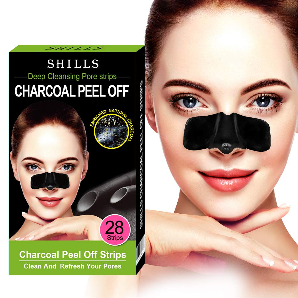 SHILLS Purifying Pore Strips, Nose Strips, 28 Count Strips, Deep Cleansing Blackhead Remover Strips, Blackhead Remover Nose Combo Pack by SHILLS