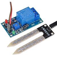 Lysignal Module de contrôle du relais du capteur d'humidité 12V du sol Module de capteur d'humidité du sol