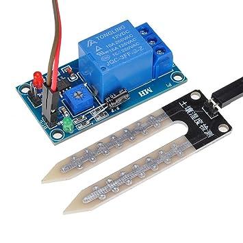 Lysignal 12V Sensor de humedad del suelo Módulo de control del relé Módulo del sensor de humedad del suelo: Amazon.es: Electrónica