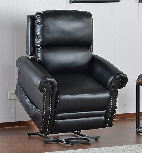Strange Amazon Com Rhomtree Bonded Leather Power Lift Chair Dailytribune Chair Design For Home Dailytribuneorg