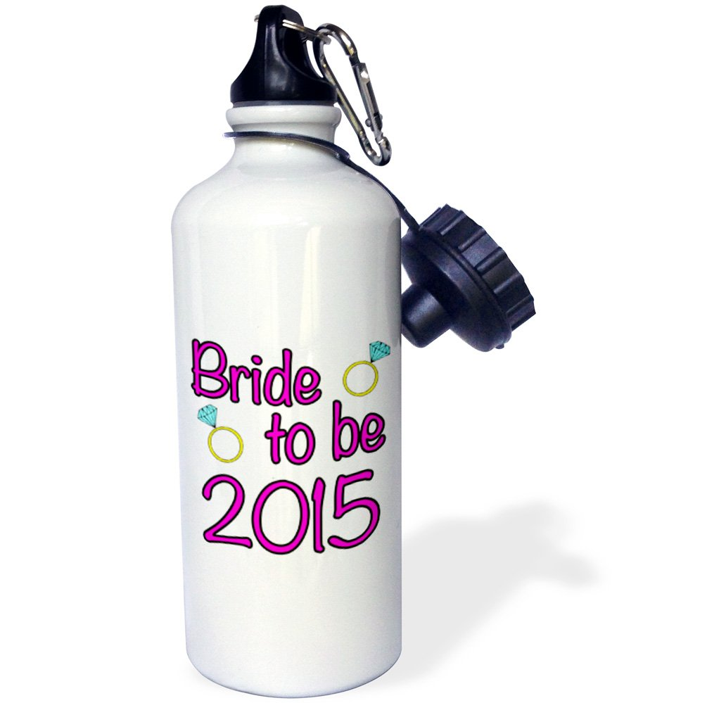 EvaDane - Funny Quotes - Bride to Be, 2015, Pink - 21 oz Sports Water Bottle (wb_202881_1)