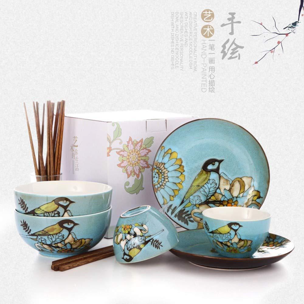 Vajilla vajilla para el hogar cubertería creativa cerámica ...