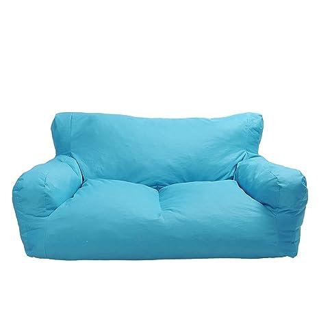 Fine Amazon Com Luckyermore Blue Bean Bag Chair Kids Self Inzonedesignstudio Interior Chair Design Inzonedesignstudiocom