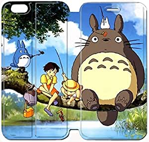 Fashion Style My Neighbor Totoro Phone case Thin Slim Flip Leather Case Cover For iPhone 6 plus 5.5 inch OOL2972440