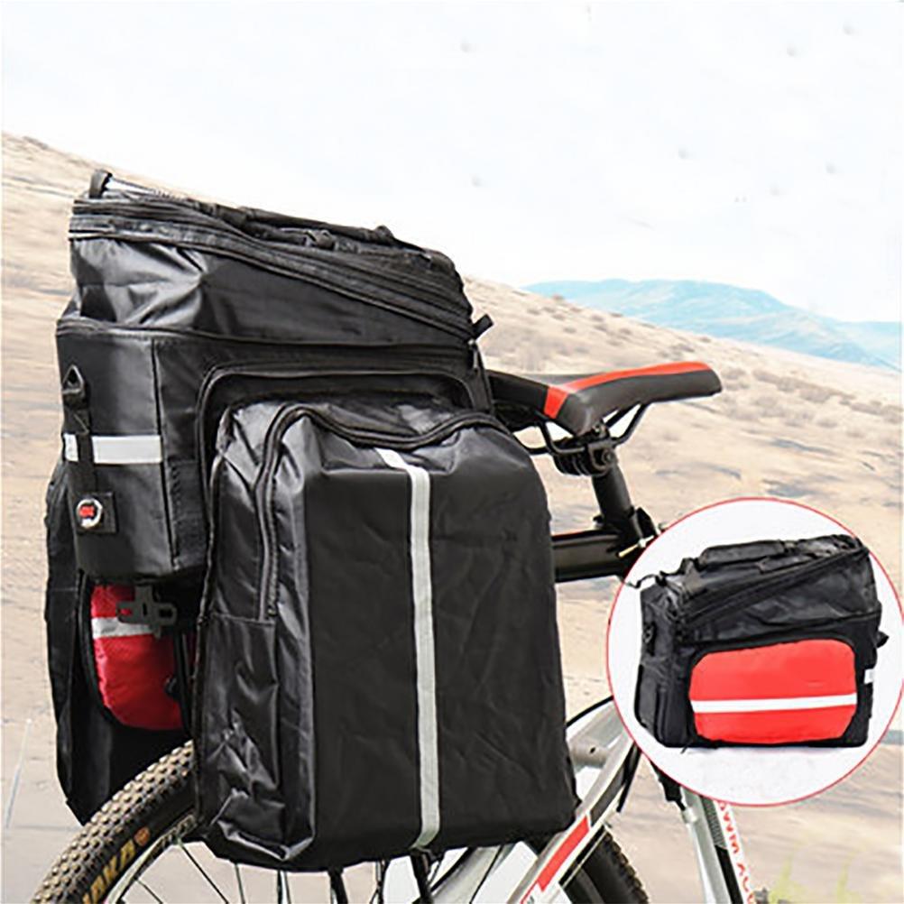 MASLEID Bike Bag Fahrradtaschen mit 3M Reflektor Trim und die Seitentasche kann in großer Kapazität erweitert werden
