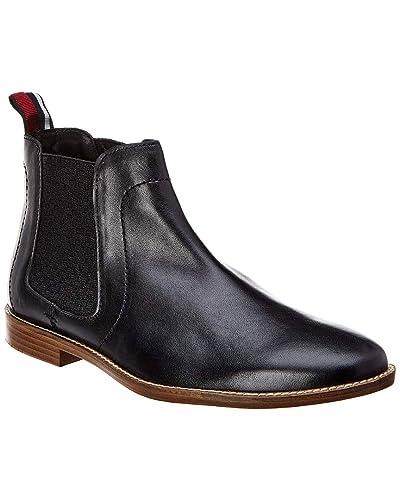 38d4e40d92d Amazon.com | Ben Sherman Gabe Chelsea Mens Black Leather Casual ...