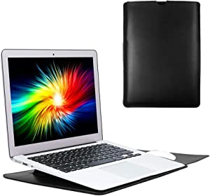 Soyan 13-Inch Laptop Sleeve with Stand Function, Compatible with 13-Inch New MacBook Pro (2016-2020) and 13-Inch New MacBook Air (2018-2020) & Surface Pro X/7/6/5/4/3 (Black)