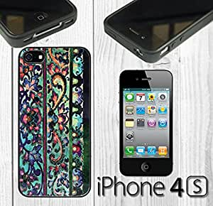 Floral Art Malaya Custom made Case/Cover/Skin FOR iPhone 4/4s -Black- Rubber Case