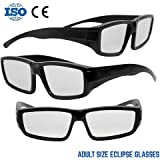 NASA APPROVED Plastic Solar Eclipse Glasses /w Carry Case Adult Size Glasses And Are Also CE and ISO Tested Safe Solar Viewing – 3 Pack (3 Glasses and 3 Cases)