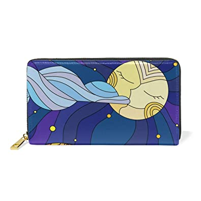 TIZORAX Cats In Stained Glass Starry Sky And Moon Womens Clutch Purses  Organizer And Handbags Zip Around Wallet  Amazon.co.uk  Shoes   Bags e06d27d3cd
