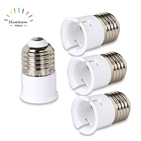 Huahan Haituo 4 UNIDS de Alta calidad E27 a B22 Edison Tornillo Bombilla LED Socket Convertidor