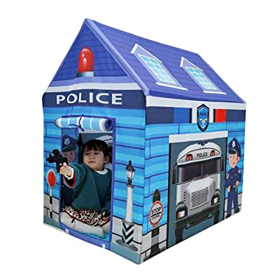 Stylishbuy Kid Tent Play House Safe Non-Fading Indoor Police House Toy for Children Boys Girls: Home & Kitchen