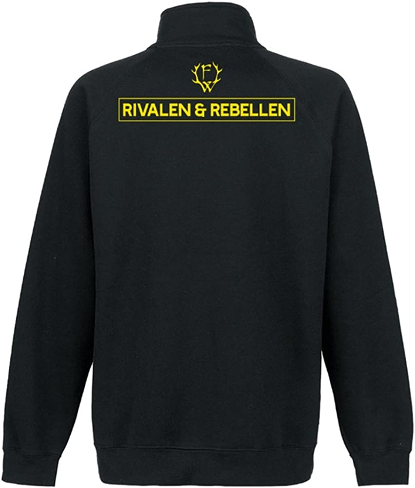 Farbe Rivalen /& Rebellen//Skull Sweatjacke Schwarz Frei.Wild