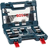 Kit de pontas e brocas em titânio Bosch V-Line com 91 peças