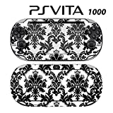 Decorative Video Game Skin Decal Cover Sticker for Sony PlayStation PS Vita (PCH-1000) - Black & White Damask
