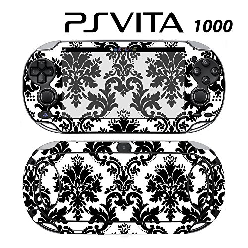 - Decorative Video Game Skin Decal Cover Sticker for Sony PlayStation PS Vita (PCH-1000) - Black & White Damask