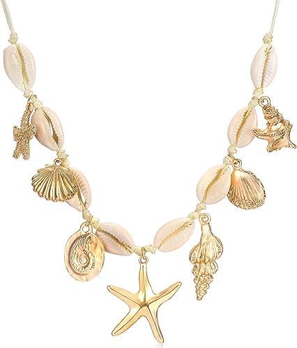 Cute Rhinestone Starfish Choker Pendant Necklace Women Fashion Jewelry 3 Colors