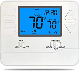 5-1-1 Day Programmable Thermostat for Home, Single Stage 1 Heat / 1 Cool