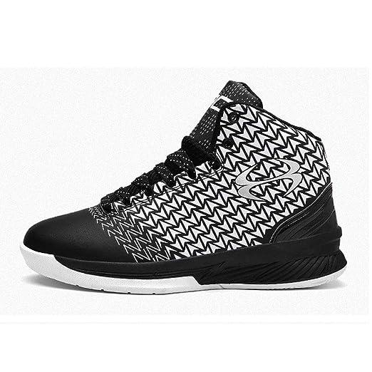 YSZDM Zapatos de Baloncesto, Moda Alto como para Ayudar ...