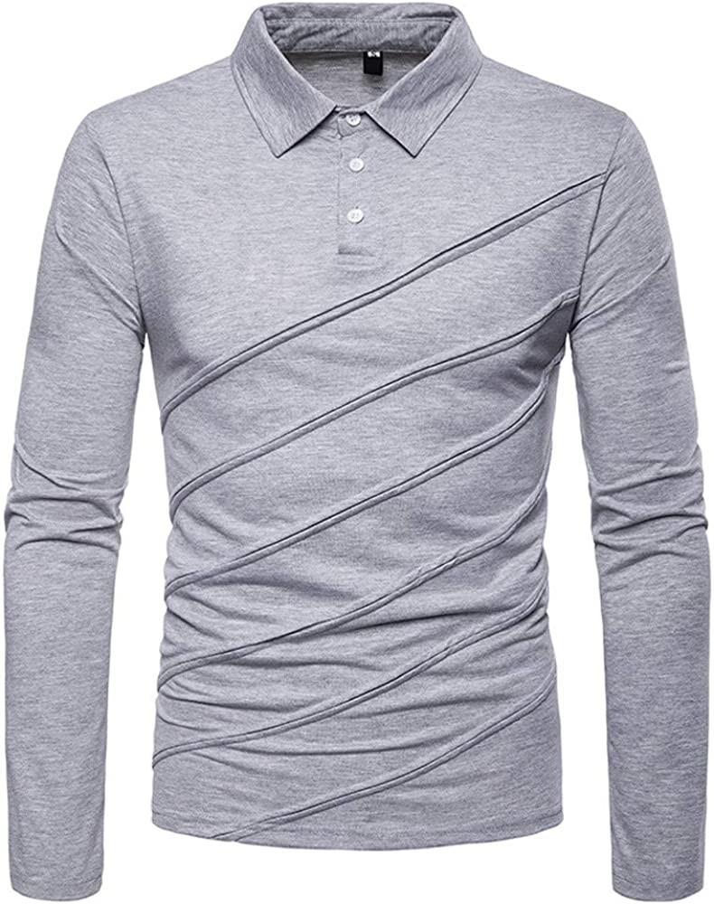 TUSFTAY Mens Tailored Fit Buttoned Dress Shirt Casual Cotton Long-Sleeved Blouse