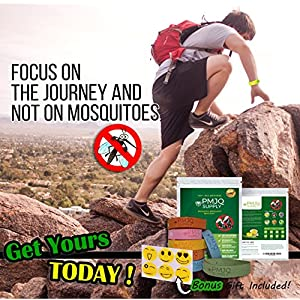 Mosquito Repellent Bracelet - 7 Pack + Bonus Gift, Keep Bugs/Insects Away This Summer! 100% All Natural, Non-Toxic, Safe for Kids, Deet-Free! Materials! Perfect for Outdoor Activities!