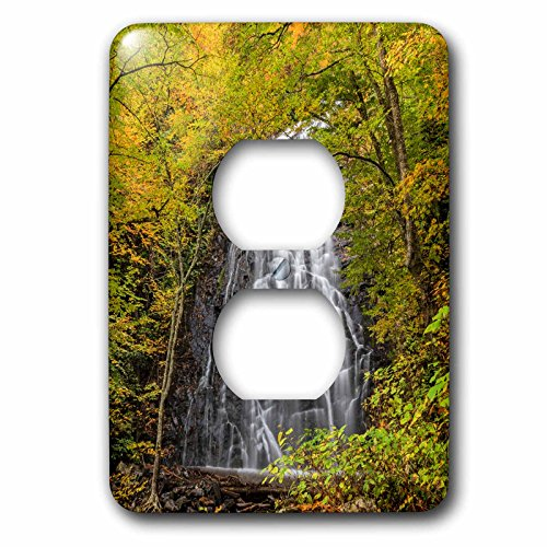 Danita Delimont - Autumn - USA, North Carolina, Blue Ridge Parkway. Scenic of Crabtree Falls - Light Switch Covers - 2 plug outlet cover - Crabtree Outlet