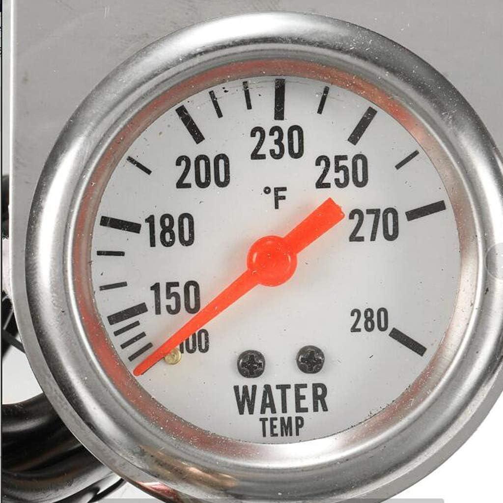 Amp Chrome Panel Gauges Water Triple Gauge Set New Oil