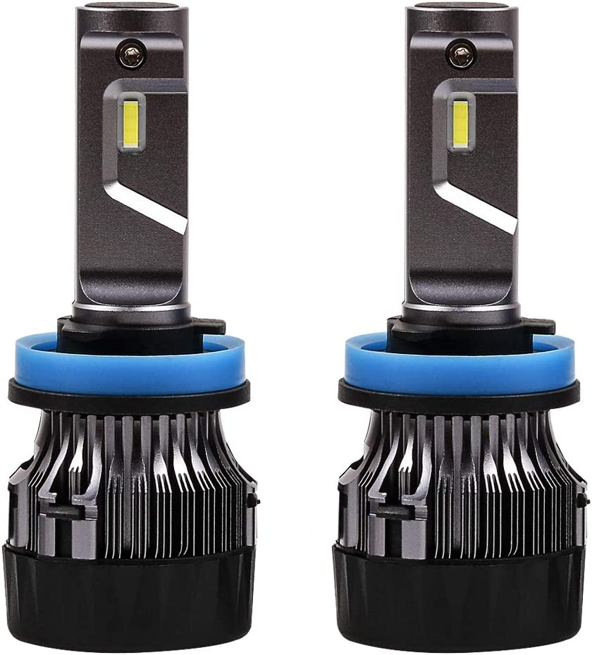 Bombilla H11 LED Coche,60W Faro Bombillas Kit - 10000LM(5000LM*2) LED CREE Chips Blanco Frío de 6500K Reemplazo Para Faros Delanteros Lámparas 9V-32V … … …