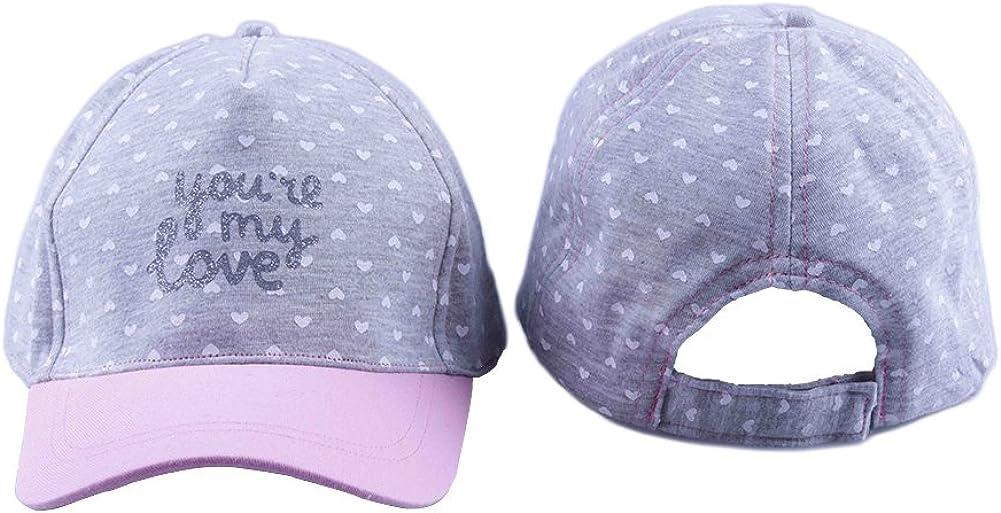 Bienzoe Girls Cotton Heart Printed Baseball Adjustable Cap Sun Visors Flat Hat