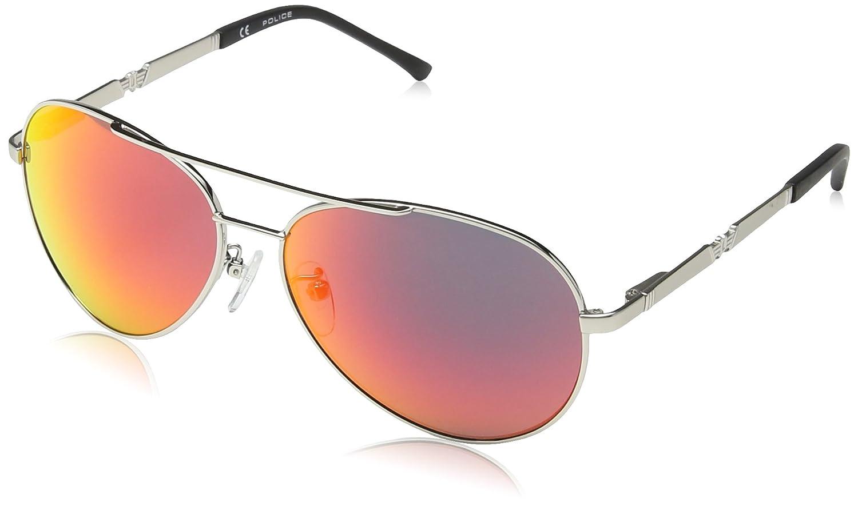 Police 8746 589R Silver Legend 2 Aviator Sunglasses Lens ...