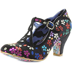 4c64ff194aa Irregular Choice Women's Lazy River T-Bar Heels, Pink/White, 3.5 UK ...