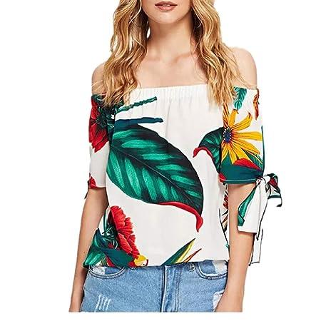 Kai Moda For Mujer Suelta Gran Flor Palabra Cuello Corbata Top ...