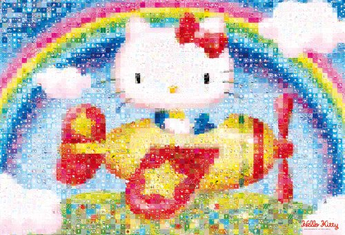 Hello Kitty Mosaic Sight-seeing Flight 1000 Pieces Jigsaw Puzzle