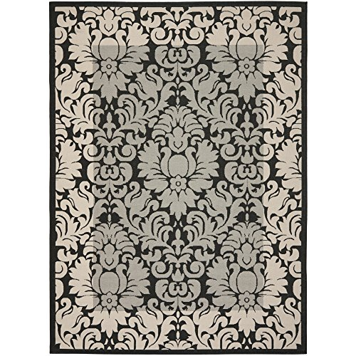 12' Sand Area Rug (Safavieh Courtyard Collection CY2727-3908 Black and Sand Indoor/ Outdoor Area Rug (9' x 12'))