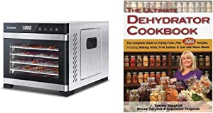 COSORI Premium Food Dehydrator Machine, 6 Stainless Steel Trays with Digital Timer and Temperature Control & The Ultimate Dehydrator Cookbook: The Complete Guide to Drying Food, Plus 398 Recipes